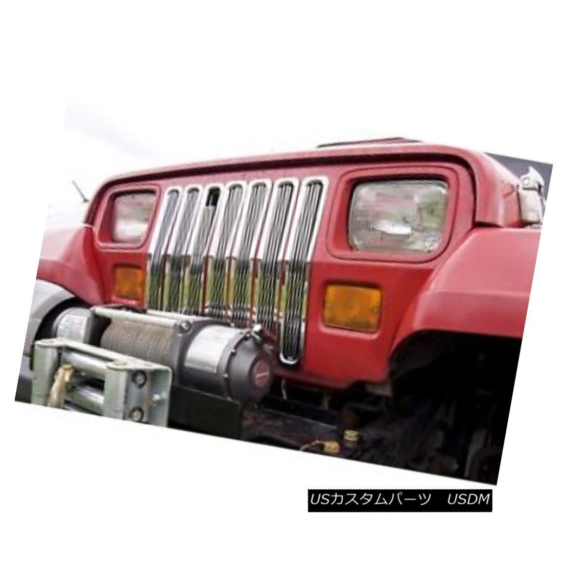 グリル Billet Grille Inserts, Chrome; 87-95 Jeep Wrangler YJ ビレットグリルインサート、クロム; 87-95ジープラングラーYJ