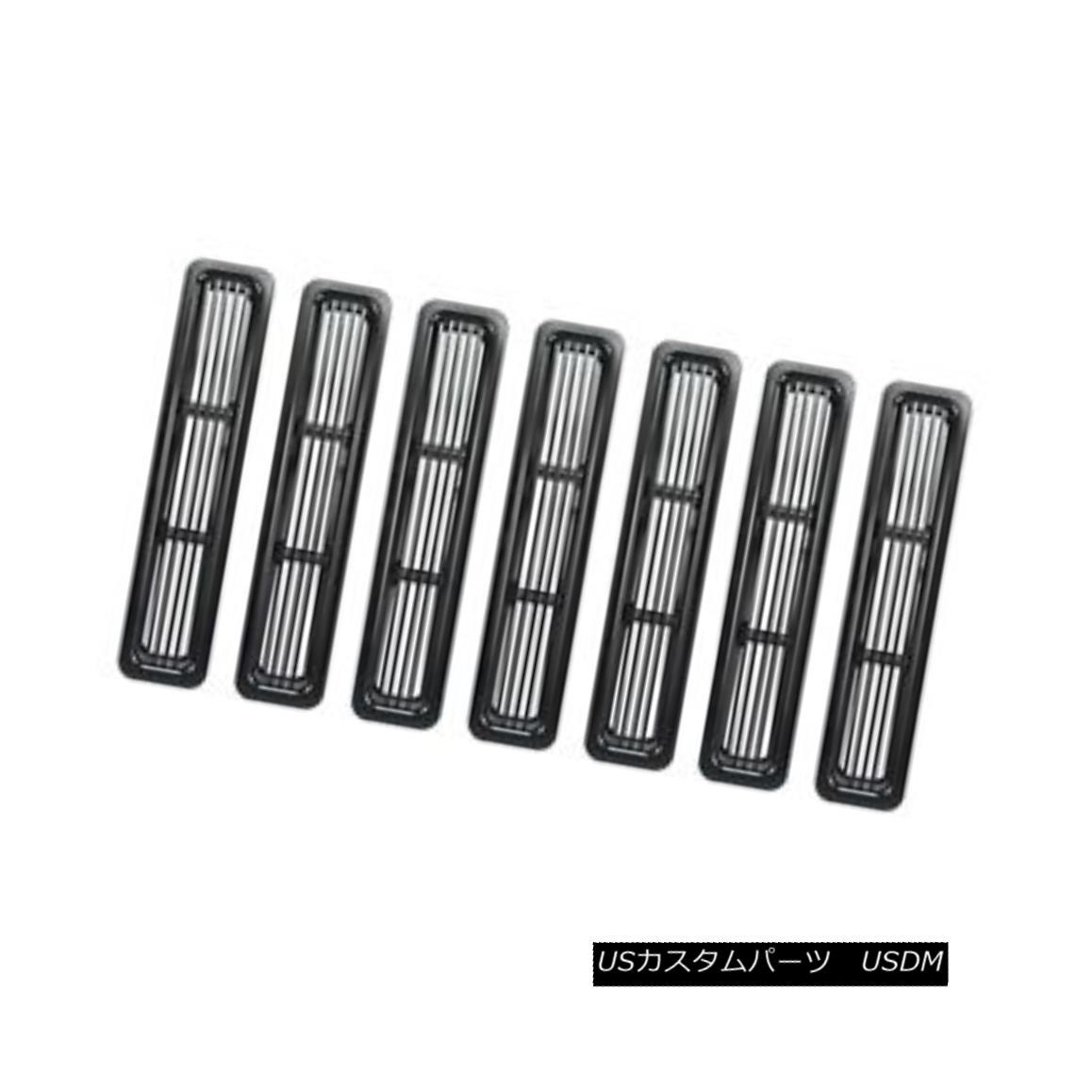 グリル Billet Grille Inserts, Black; 97-06 Jeep Wrangler TJ ビレットグリルインサート、黒; 97-06ジープ・ラングラーTJ
