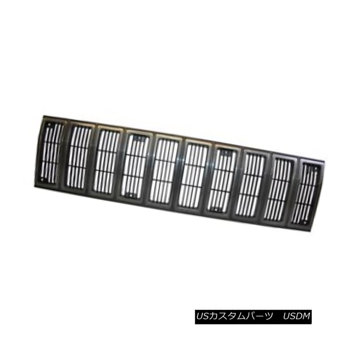 グリル Grille Insert, Black/Gray; 84-87 Jeep Cherokee XJ グリルインサート、ブラック/グレー; 84-87ジープチェロキーXJ