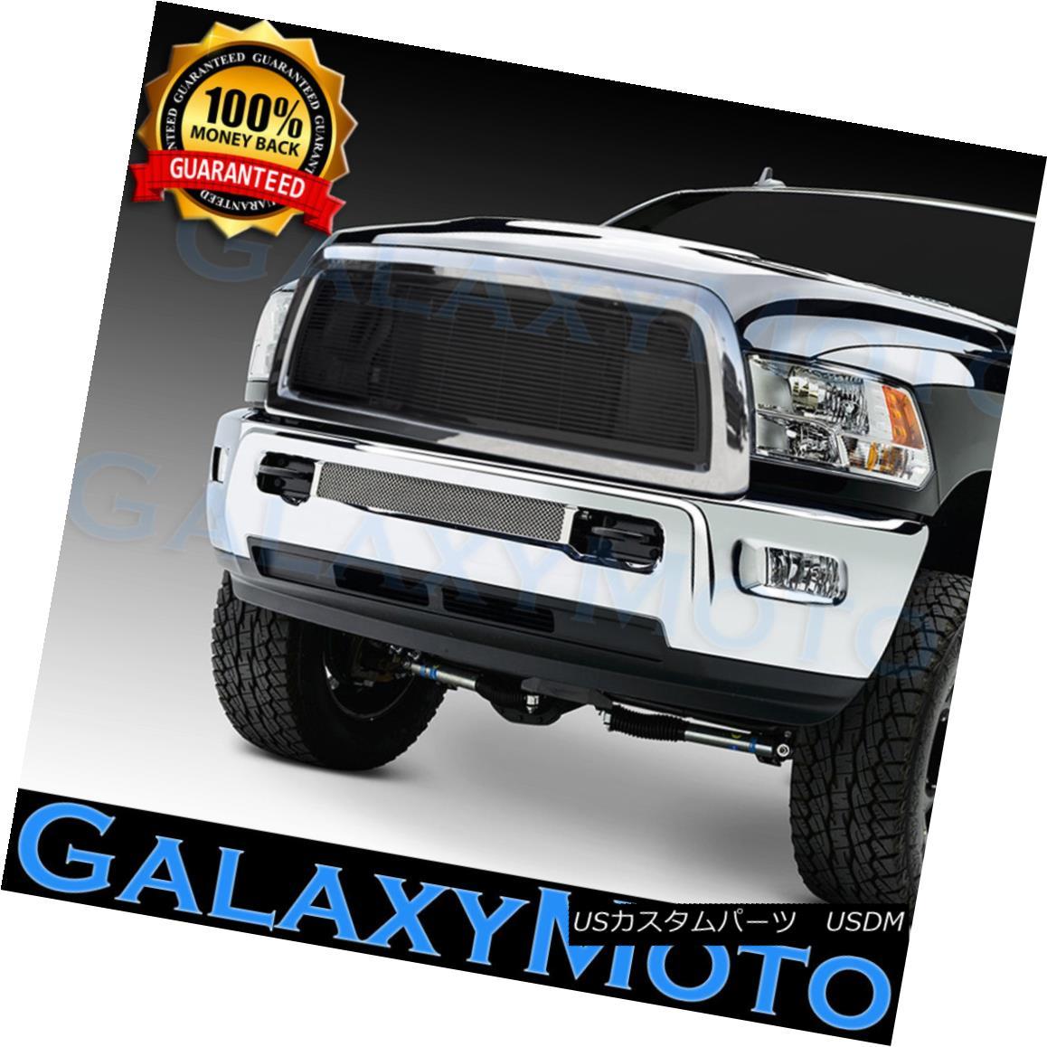 グリル 10-12 Dodge RAM 2500+3500+HD Black Billet Grille+Replacement+Chrome Shell 10-12ダッジRAM 2500 + 3500 + HDブラックビレットグリル+交換 ment + Chrome Shell