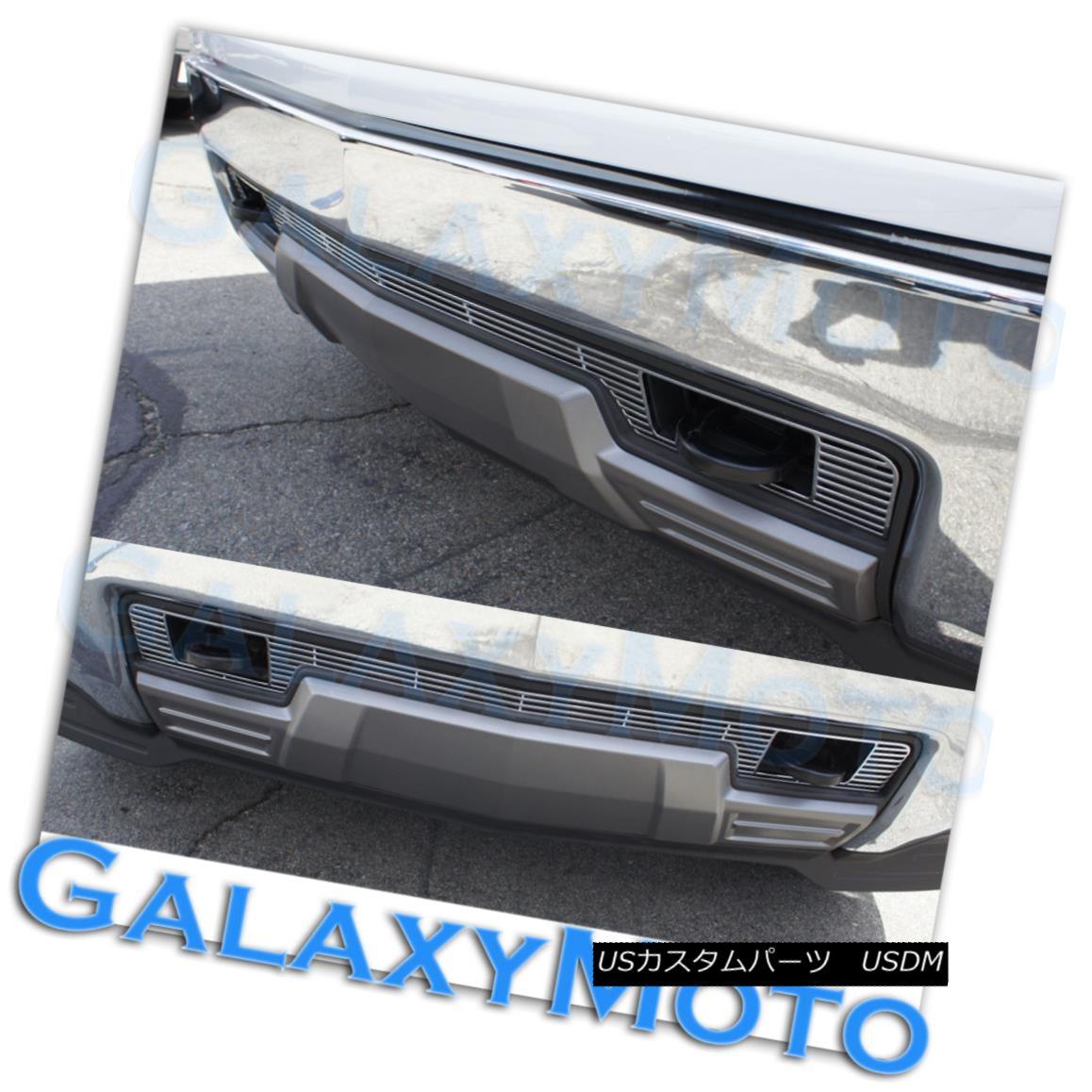 グリル 14-15 Chevy Silverado 1500 Chrome Lower Bumper Billet Grille Insert w/ Tow Hook 14-15 Chevy Silverado 1500クロムロワーバンパービレットグリルインサート