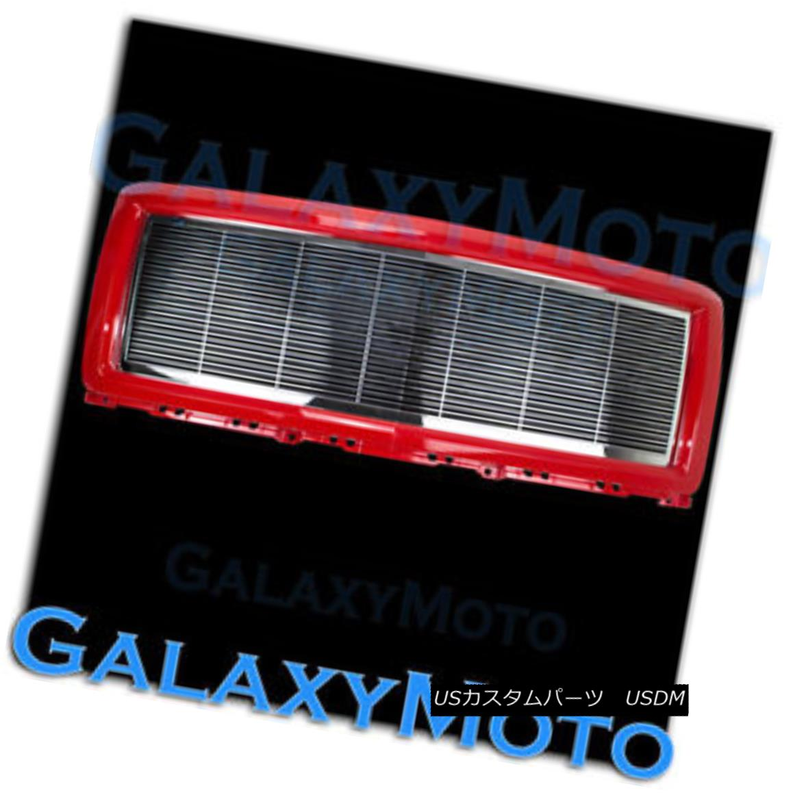 グリル 14-15 Chevy Silverado 1500 Chrome Billet Grille+Victory Red Replacement Shell 14-15 Chevy Silverado 1500クロムビレットグリル+ Victory Red Replacement Shell