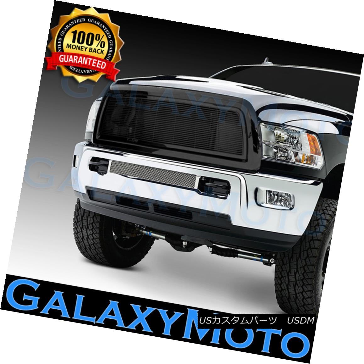 グリル 10-12 Dodge RAM 2500+3500+HD Black Billet Grille+Complete Replacement+Shell 10-12ダッジRAM 2500 + 3500 + HDブラックビレットグリル+完了 e交換+ Sh ell
