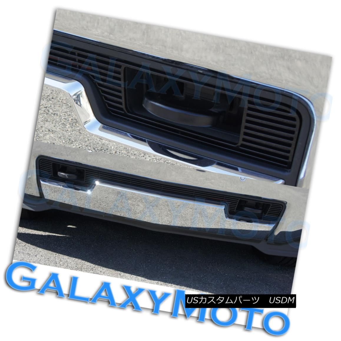 グリル 2014 Chevy Silverado 1500 Black Lower Bumper Billet Grille Insert w/ Tow Hook 2014 Chevy Silverado 1500ブラックロワーバンパービレットグリルインサート
