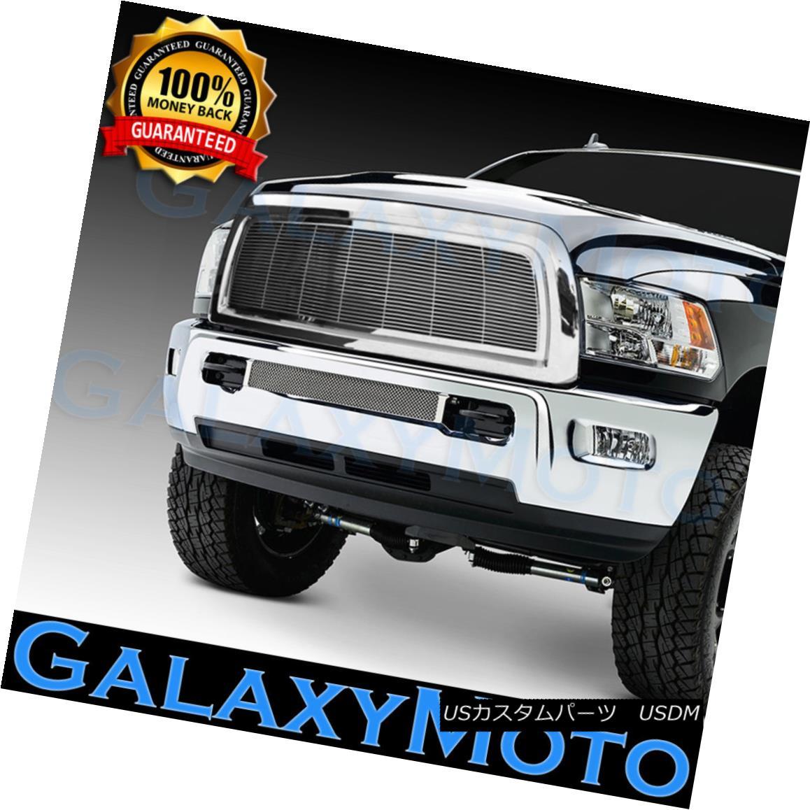 グリル 10-12 Dodge RAM 2500+3500+HD Chrome Billet Grille+Complete Replacement+Shell 10-12ダッジRAM 2500 + 3500 + HDクロムビレットグリル+完了 e交換+ Sh ell
