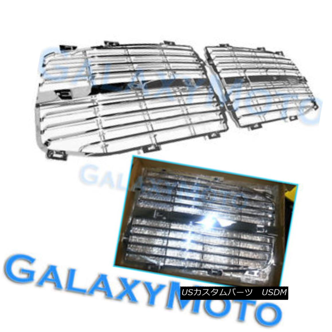 グリル 06-08 Dodge RAM 1500+2500+3500 Chrome Grille Replace Grill Trim Insert 1 Set kit 06-08ドッジRAM 1500 + 2500 + 3500クロームグリル交換グリルトリムインサート1セットキット