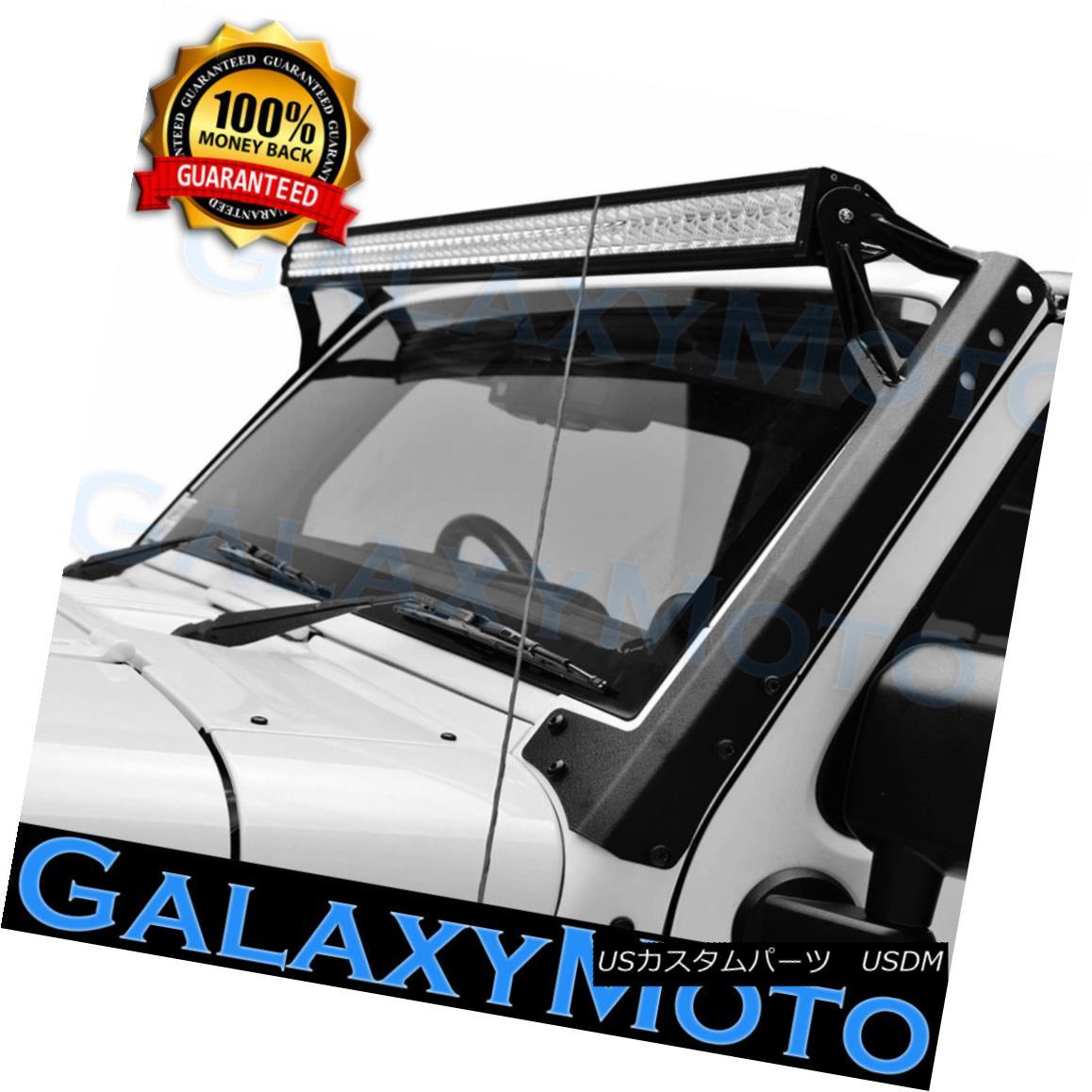 グリル Jeep JK 07-17 Steel Cab Windshield Mounting Brackets for 50