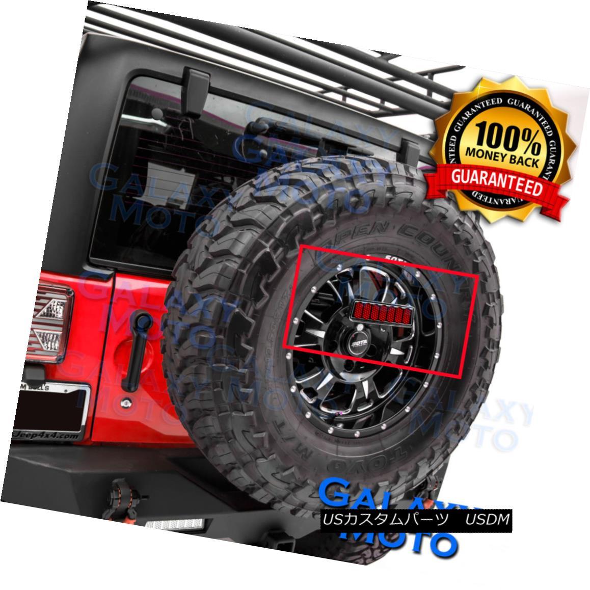グリル 3rd Brake Tail LED light w/Rear Spare Tire Bracket Mount fit 07-17 Jeep Wrangler 3番目のブレーキテールLEDライト、リアスペアタイヤブラケットマウントフィット07-17 Jeep Wrangler