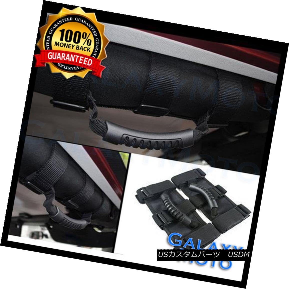 Extreme Sport BLUE Black Rear Bar Grab Handle for 87-16 Jeep Wrangler JK TJ YJ