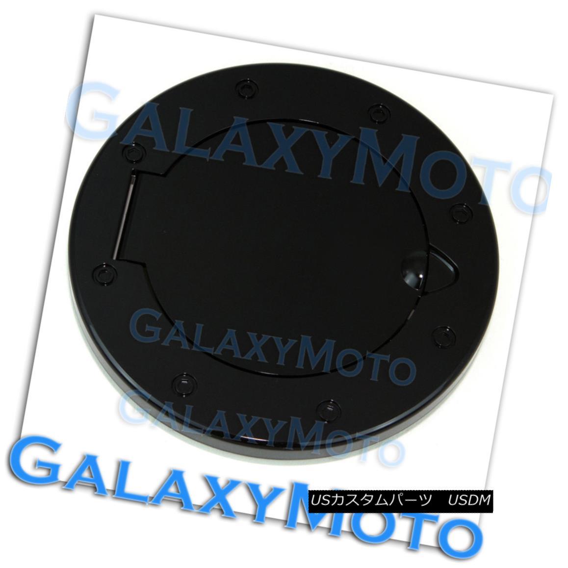 グリル Gloss Black Replacement+Direct Bolt Gas Door Cover for 07-17 Jeep Wrangler JK Gloss Black Replacement + Di 07-17ジープラングラーJKのためのrectボルトガスドアカバー