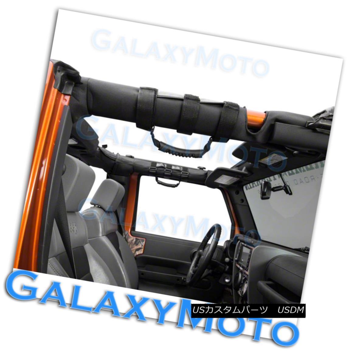 Extreme Sport RED Rear Side Bar Grab Handle 4pcs for 87-16 Jeep Wrangler JK TJ Y