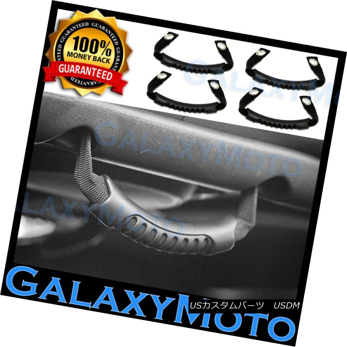 グリル Black Rear Side Grab Handle 4pcs Set for 07-17 Jeep Wrangler JK 07-17ジープラングラーJKのブラックリアサイドグラブハンドル4個セット