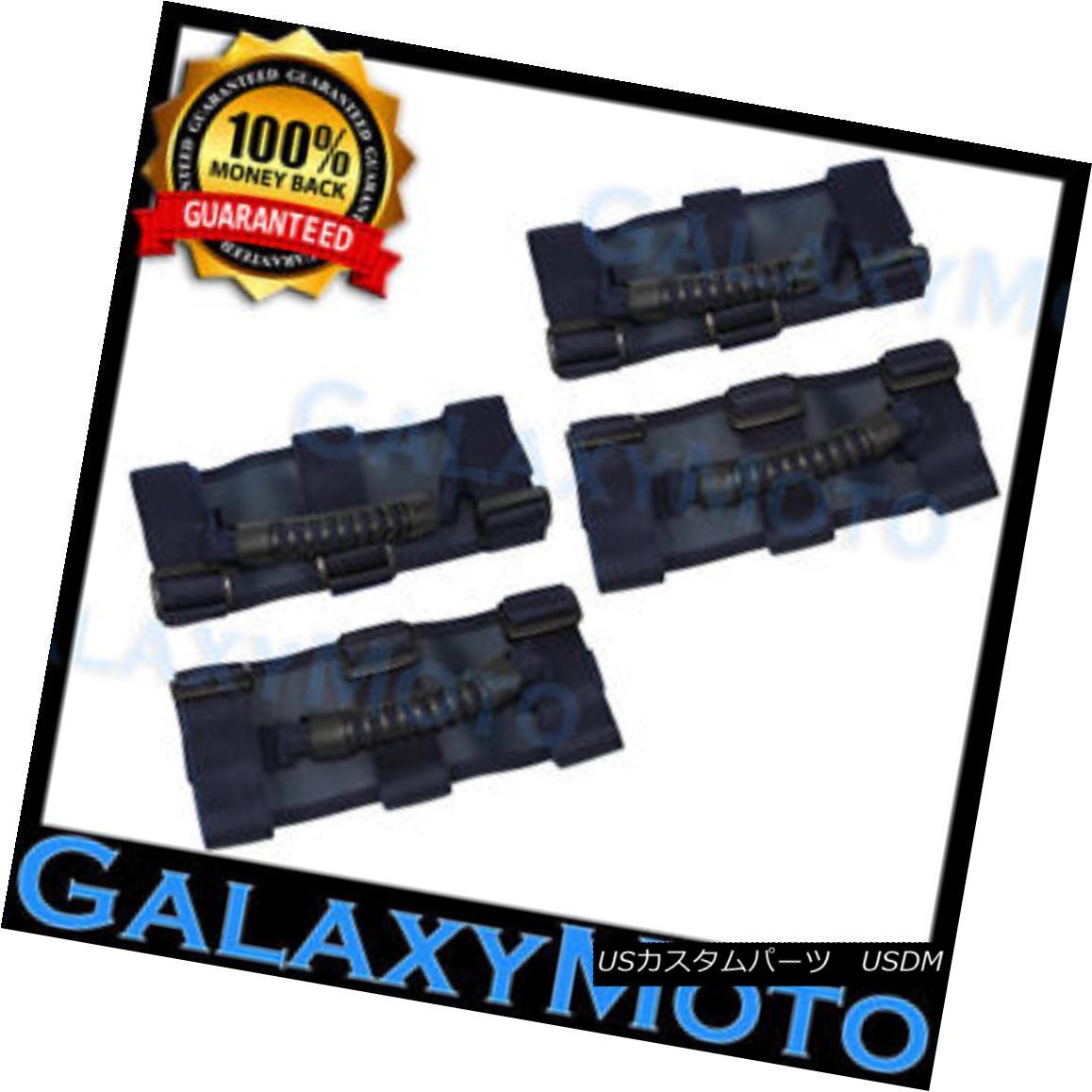 グリル Deluxe Extreme 4pcs BLUE Roll Bar Grab Handle fit 87-16 Jeep Wrangler JK TJ YJ C デラックスエクストリーム4個入りブルーロールバーグラブハンドルフィット87-16ジープラングラーJK TJ YJ C