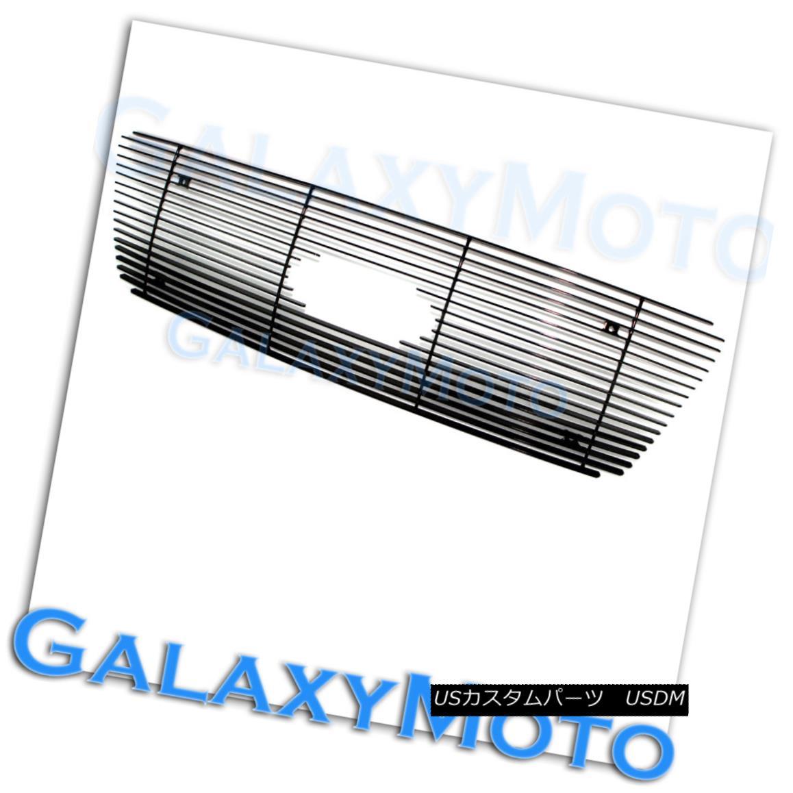 グリル 04-08 Ford F150 Honeycomb Style All Black Billet Grille Overlay LOGO w/ Cutout 04-08 Ford F150ハニカムスタイル全てのBlack Billet Grille Overlayロゴカットアウト