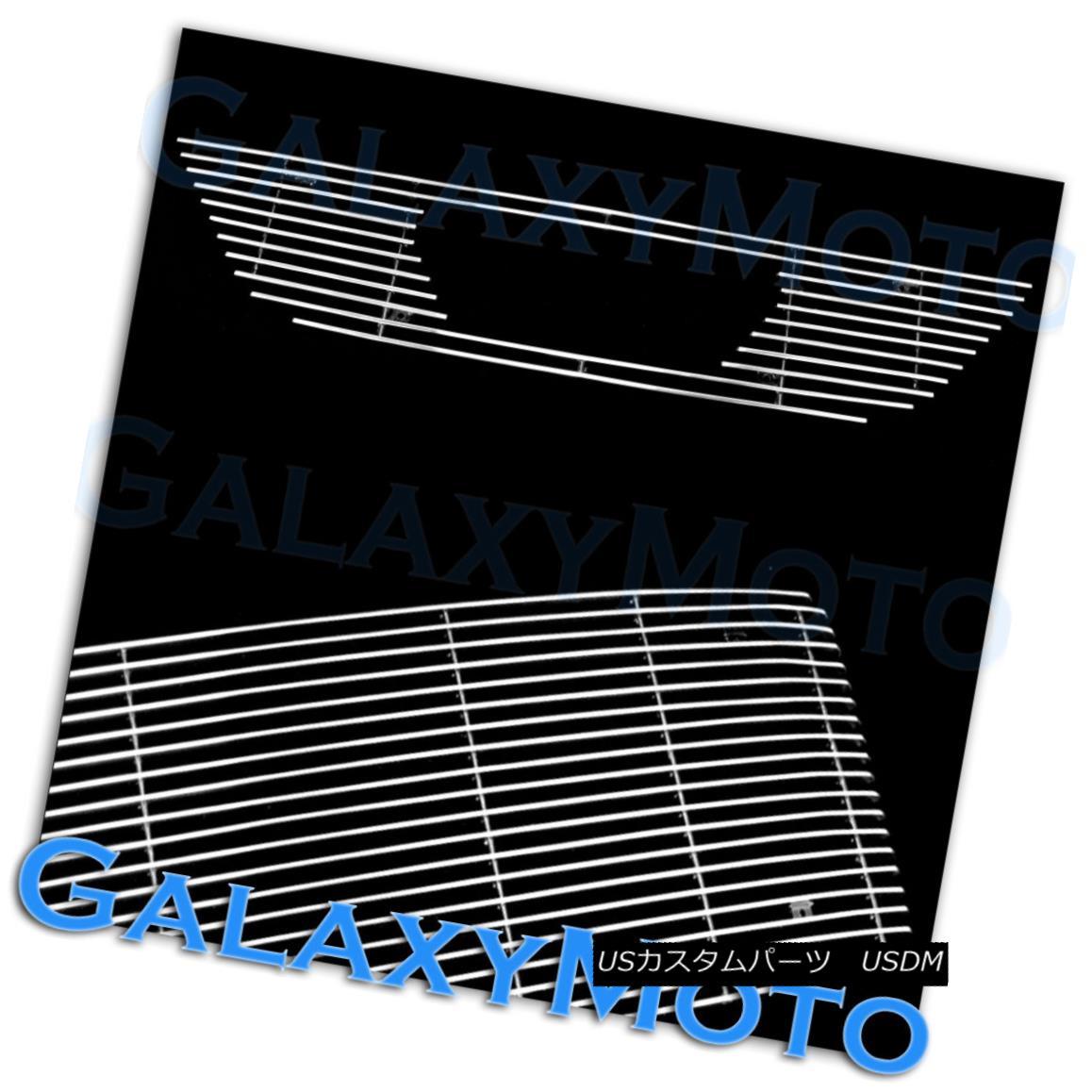 グリル 99-04 Ford Mustang V6 V8 w/ Logo Cutout Polished Chrome Billet Grille Insert 99-04 Ford Mustang V6 V8ロゴカットアウトポリッシュクロムビレットグリルインサート