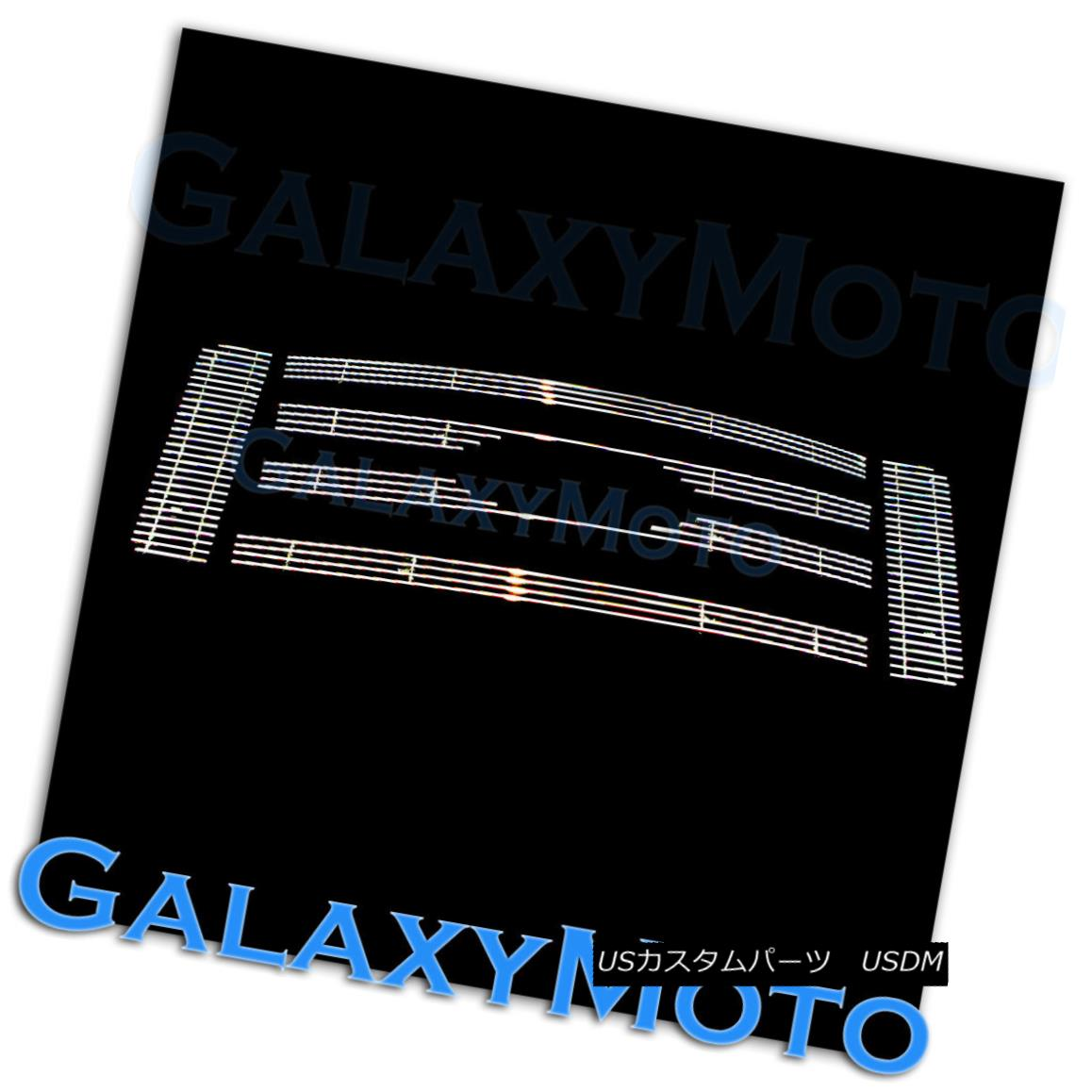 グリル 09-12 Ford F150 XL+XLT+SXT Polished Aluminum Chrome 6pcs Billet Grille Overlay 09-12フォードF150 XL + XLT + SXTポリッシュアルミニウムクローム6本ビレットグリルオーバーレイ