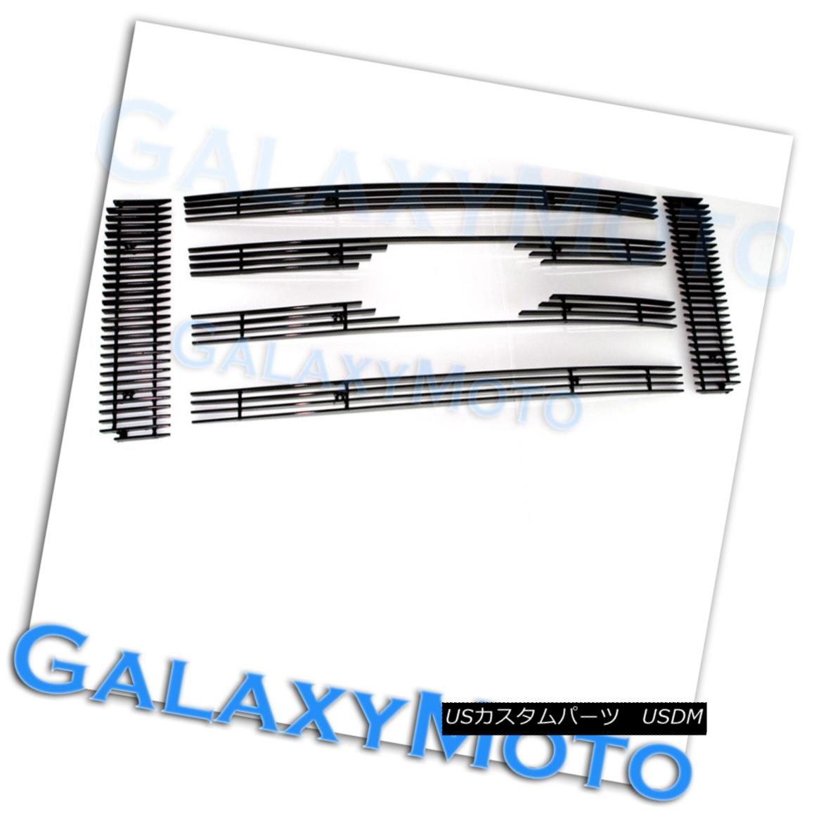 グリル 09-12 Ford F150 XL+XLT+SXT Aluminum Glossy Black 6pcs Billet Grille Overlay 09-12フォードF150 XL + XLT + SXTアルミグロッシーブラック6本ビレットグリルオーバーレイ