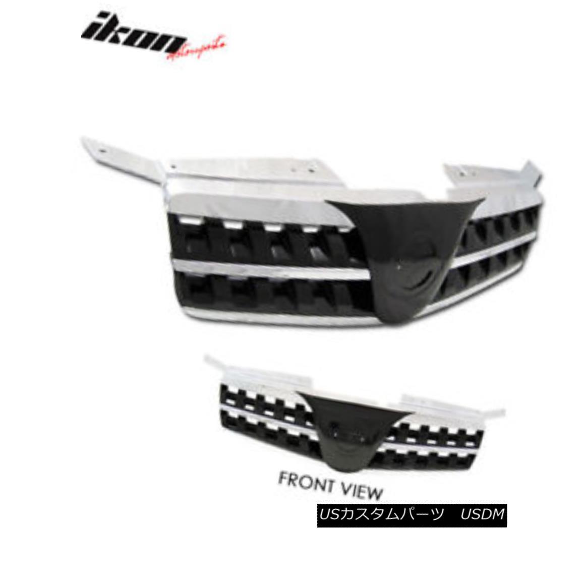 グリル Fit For 04-06 Nissan Maxima Black Sports Hood Grille Grill フィット04-06日産マキシマブラックスポーツフードグリルグリル