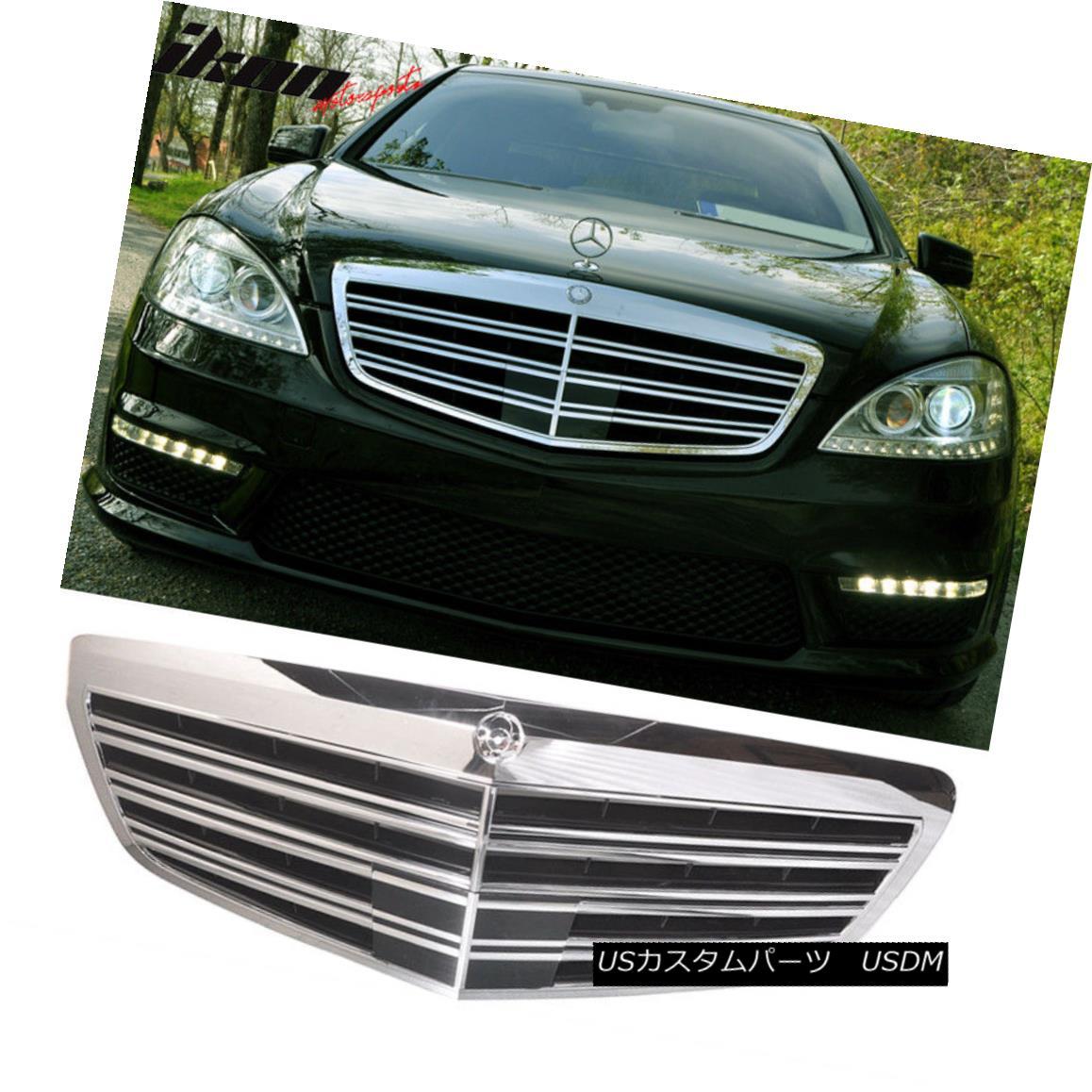グリル Fits Mercedes Benz W221 S Class 07-13 Bumper Hood Front AMG Conversion Grille フィットメルセデスベンツW221 Sクラス07-13バンパーフードフロントAMG変換グリル