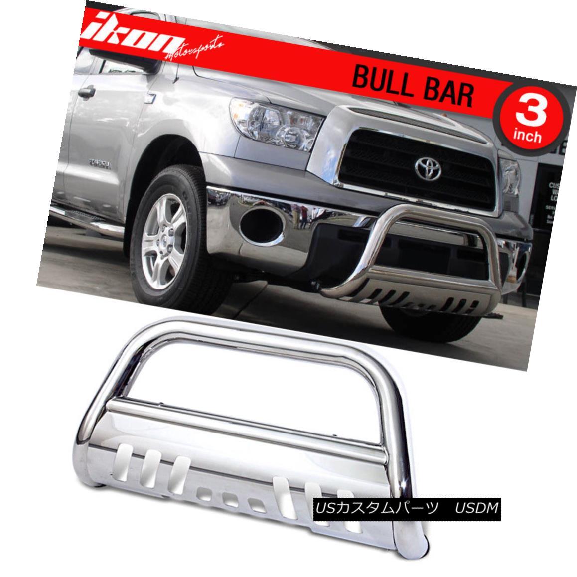 グリル For 07-17 Toyota Tundra Ss Bull Bar Grill Guard Front Bumper With Skid Plate 07-17 Toyota Tundra Ss用ブルバーグリルガードフロントバンパー(スキッドプレート付)