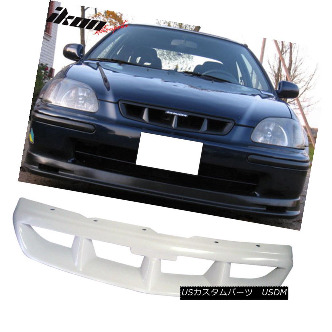 グリル Fits 96-98 EK Civic 2Dr 3Dr 4Dr Mug Type Front Bumper Mesh Grille - ABS フィット96-98 EK Civic 2Dr 3Dr 4Drマグタイプフロントバンパーメッシュグリル - ABS