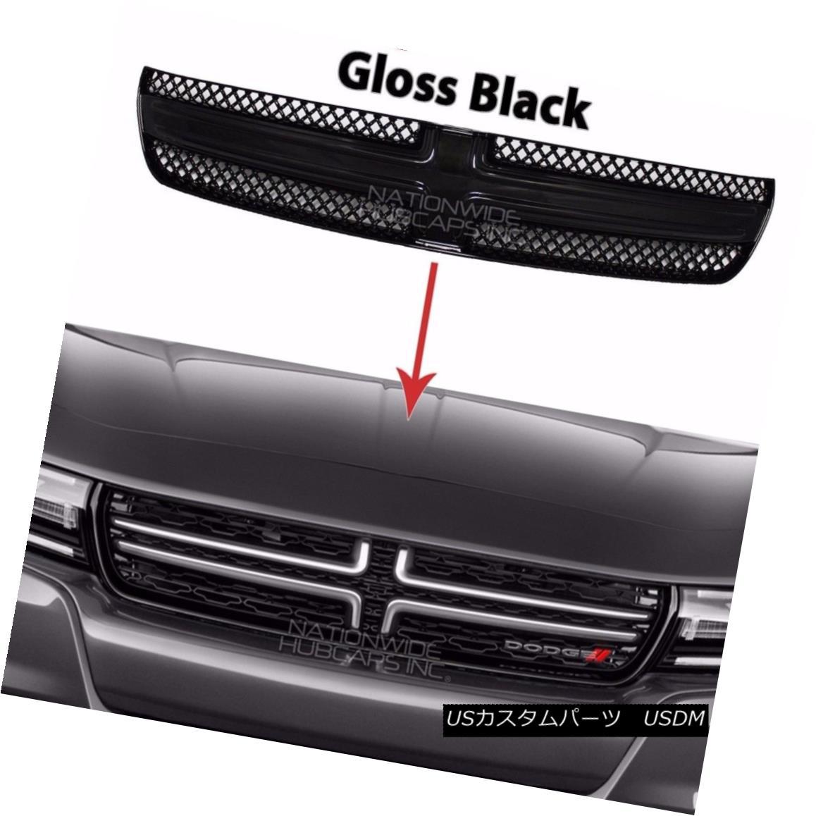 グリル 2015-17 Dodge Charger Gloss Black Grille Overlay Front Full Grill Inserts Covers 2015-17ダッジチャージャーグロスブラックグリルオーバーレイフロントフルグリルインサートカバー