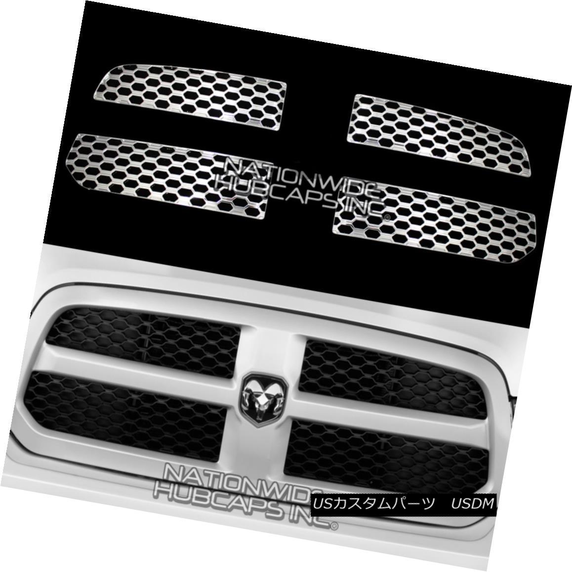 グリル 2013-2019 Dodge RAM 1500 CHROME Snap On Grill Overlay Grille Covers Trim Inserts 2013-2019 Dodge RAM 1500 CHROMEスナップオングリルオーバーレイグリルカバートリムインサート
