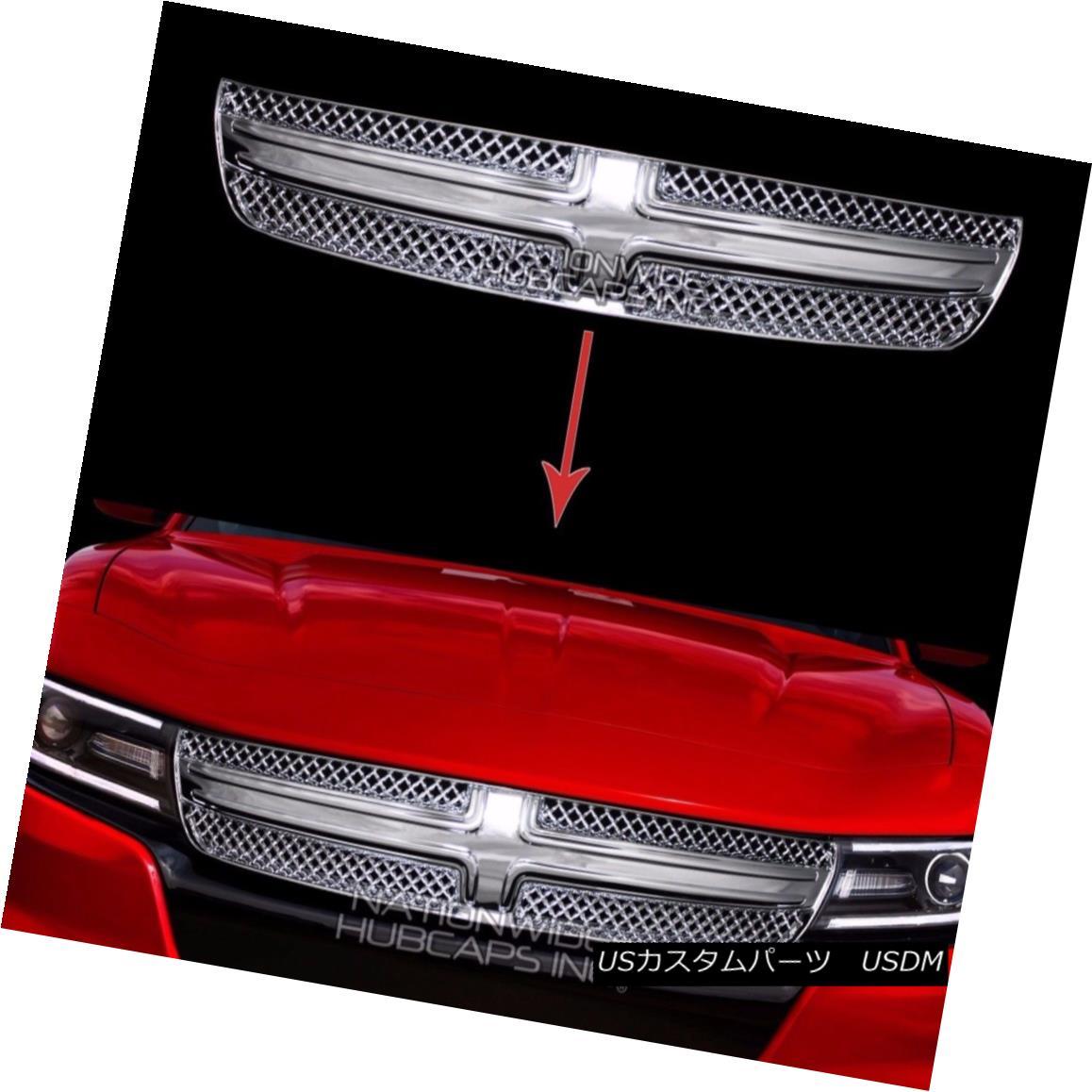 グリル 2015 16 2017 Dodge Charger Chrome Grille Overlay Front Full Grill Inserts Covers 2015 16 2017ダッジチャージャークロムグリルオーバーレイフロントフルグリルインサートカバー