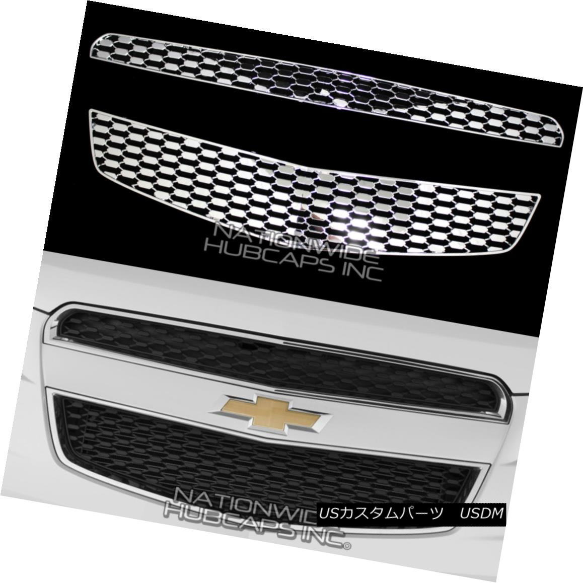 グリル 10-13 CHEVY EQUINOX CHROME Snap On Grille Overlay Front Grill Covers Inserts New 10-13 CHEVY EQUINOX CHROMEスナップオングリルオーバーレイフロントグリルカバーインサート新
