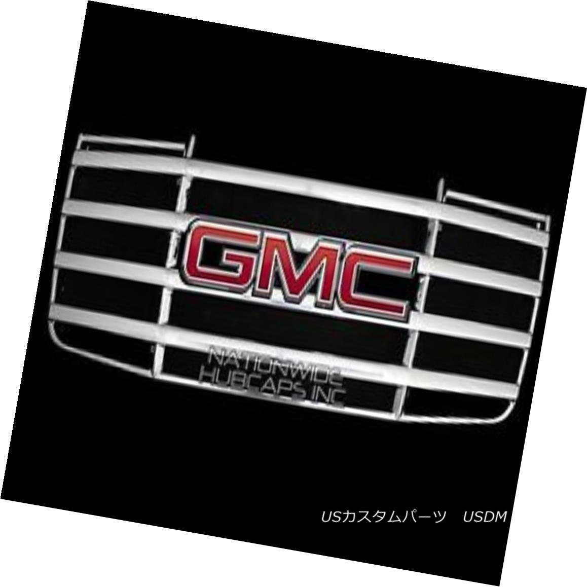 グリル fits 2007-2010 GMC Sierra 2500 3500 HD CHROME Snap On Grille Overlay Grill Cover フィット2007-2010 GMC Sierra 2500 3500 HDクロームスナップオングリルオーバーレイグリルカバー