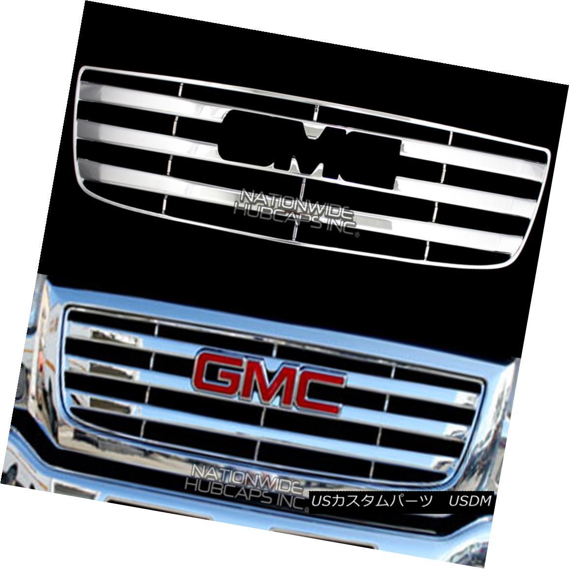 USグリル 2003-2006 GMC Sierra 1500 CHROME Snap On Grille Overlay Grill Cover Front Insert 2003-2006 GMC Sierra 1500 CHROMEスナップオングリルオーバーレイグリルカバーフロントインサート