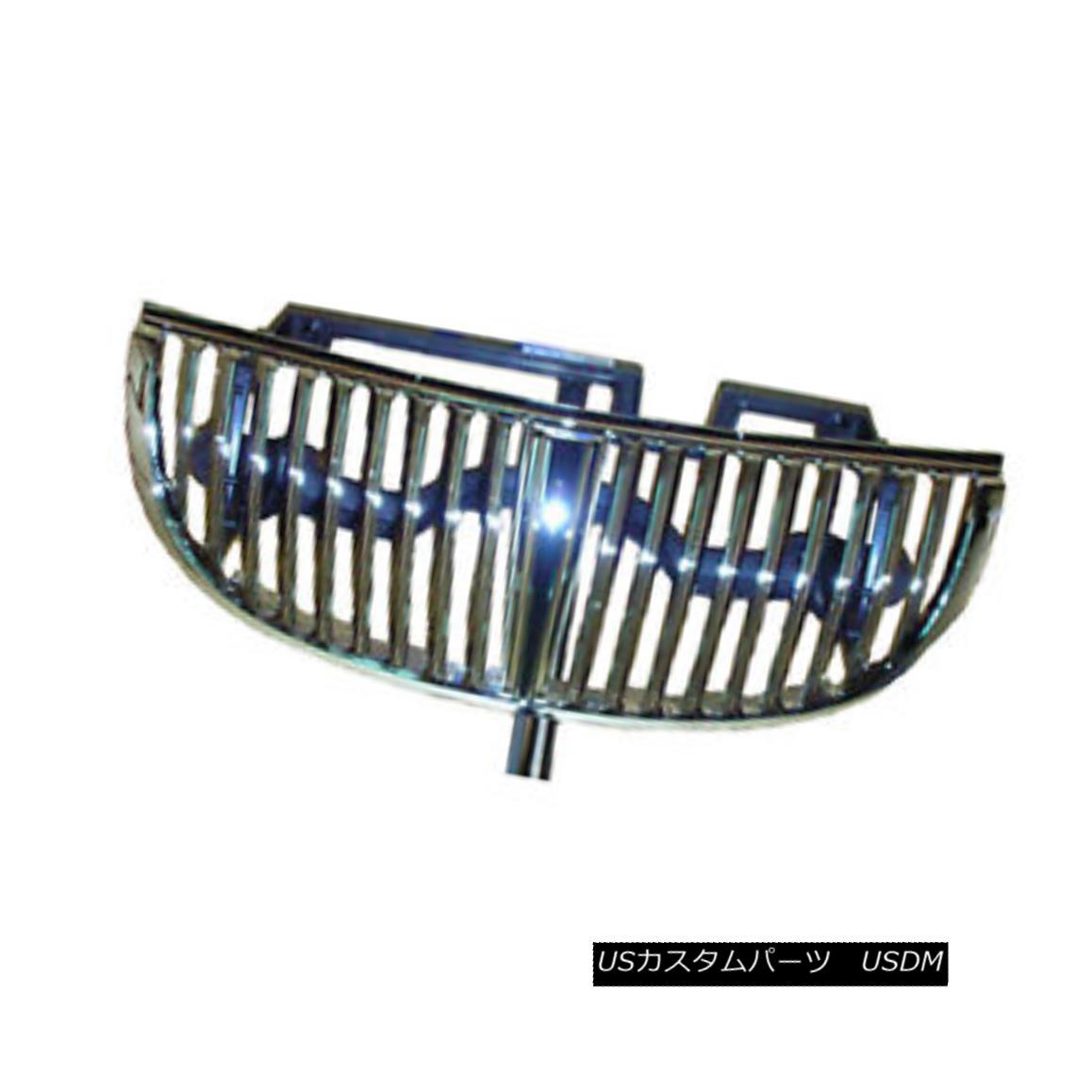 グリル Replacement Grille for 1998-2002 Lincoln Town Car - Chrome 1998-2002年の交換用グリルリンカーンタウンカー - クロム