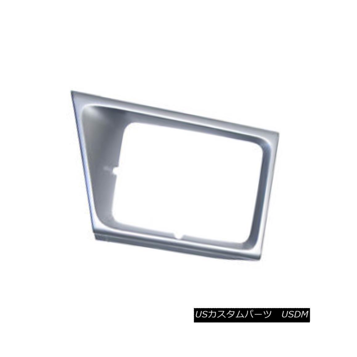 グリル New Headlight Door Silver Passenger Side Use w/Sealed Beam Lamps 630-00973R 密閉されたビームランプ630-00973Rで新しいヘッドライトドアシルバーの旅客側の使用