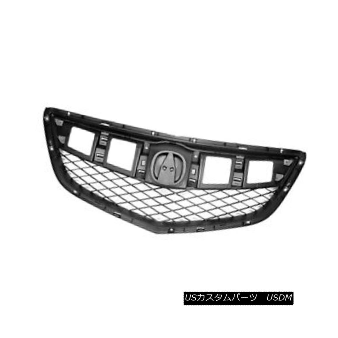 グリル New Replacement Grille Matte Dark Grey ABS 104-59669 CAPA 新しい交換グリルマットダークグレーABS 104-59669 CAPA