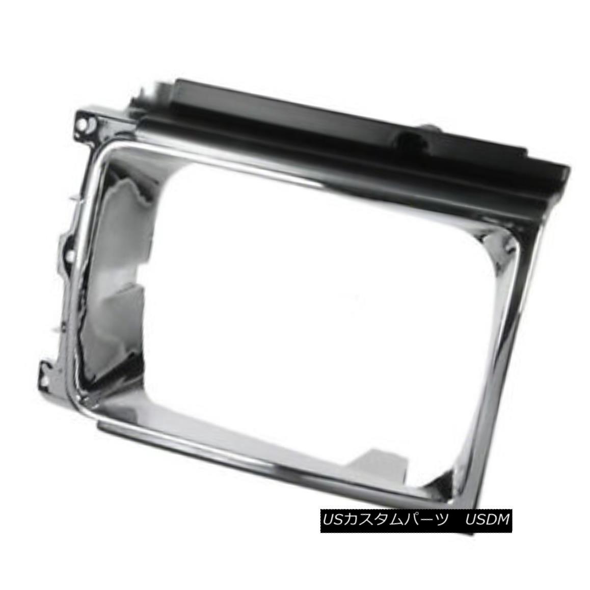 グリル New Headlight Door Chrome & Silver Passenger Side for 4 wheel drive 630-50077A 新しいヘッドライトドアクローム& 四輪駆動630-50077Aシルバーの旅客側