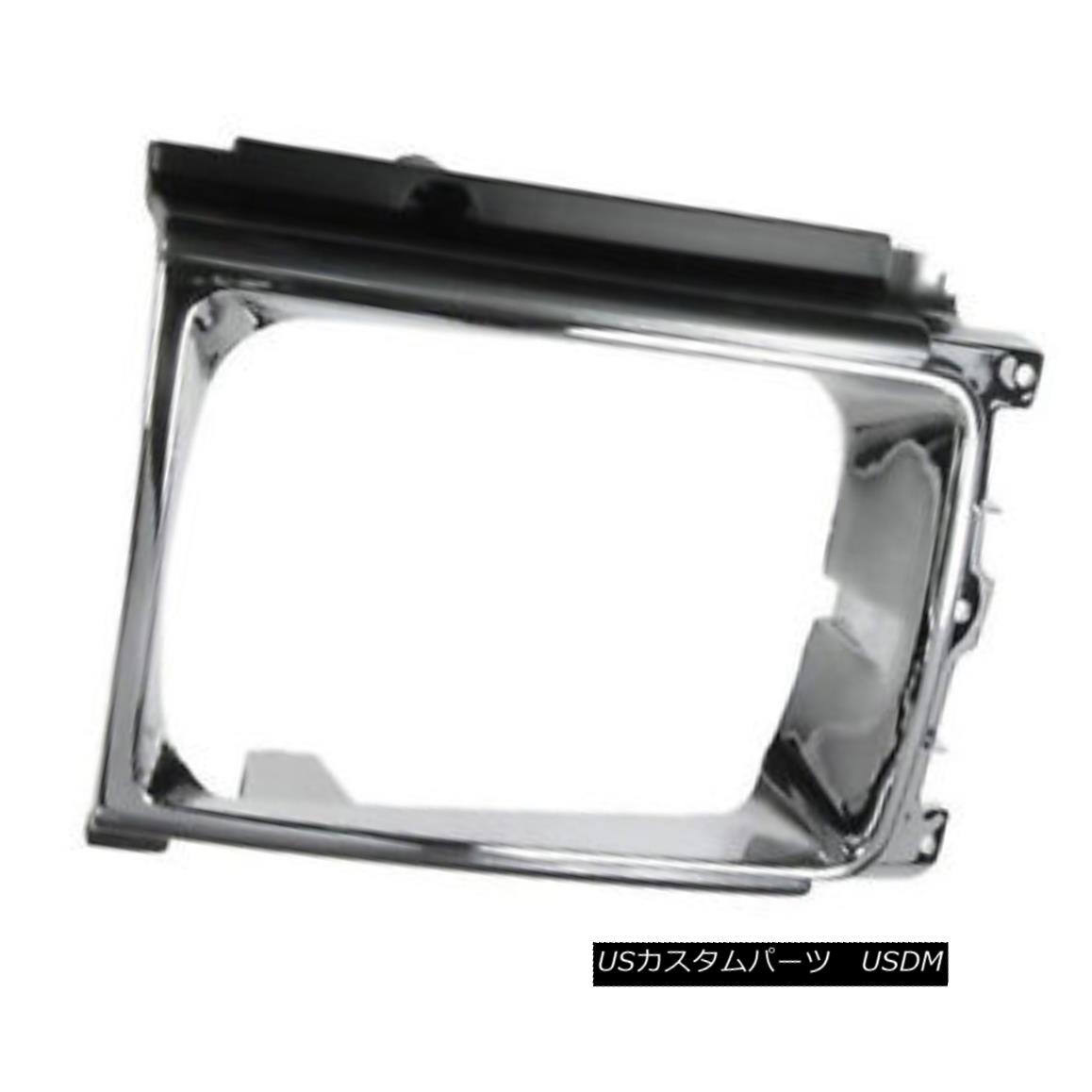グリル New Headlight Door Chrome & Silver Driver Side for 4 wheel drive 630-50077AL 新しいヘッドライトドアクローム& 4輪駆動用シルバードライバーサイド630-50077AL
