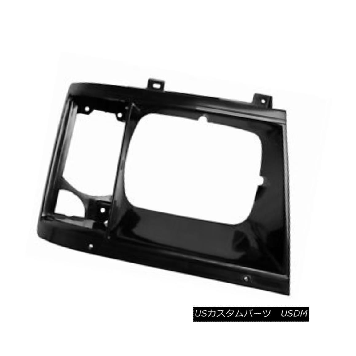グリル New Headlight Door Black Passenger Side w/Bezel w/o Chrome Strip 630-00673BR 新しいヘッドライトドア黒の乗客の側/ベゼルなしクロームストリップ付き630-00673BR