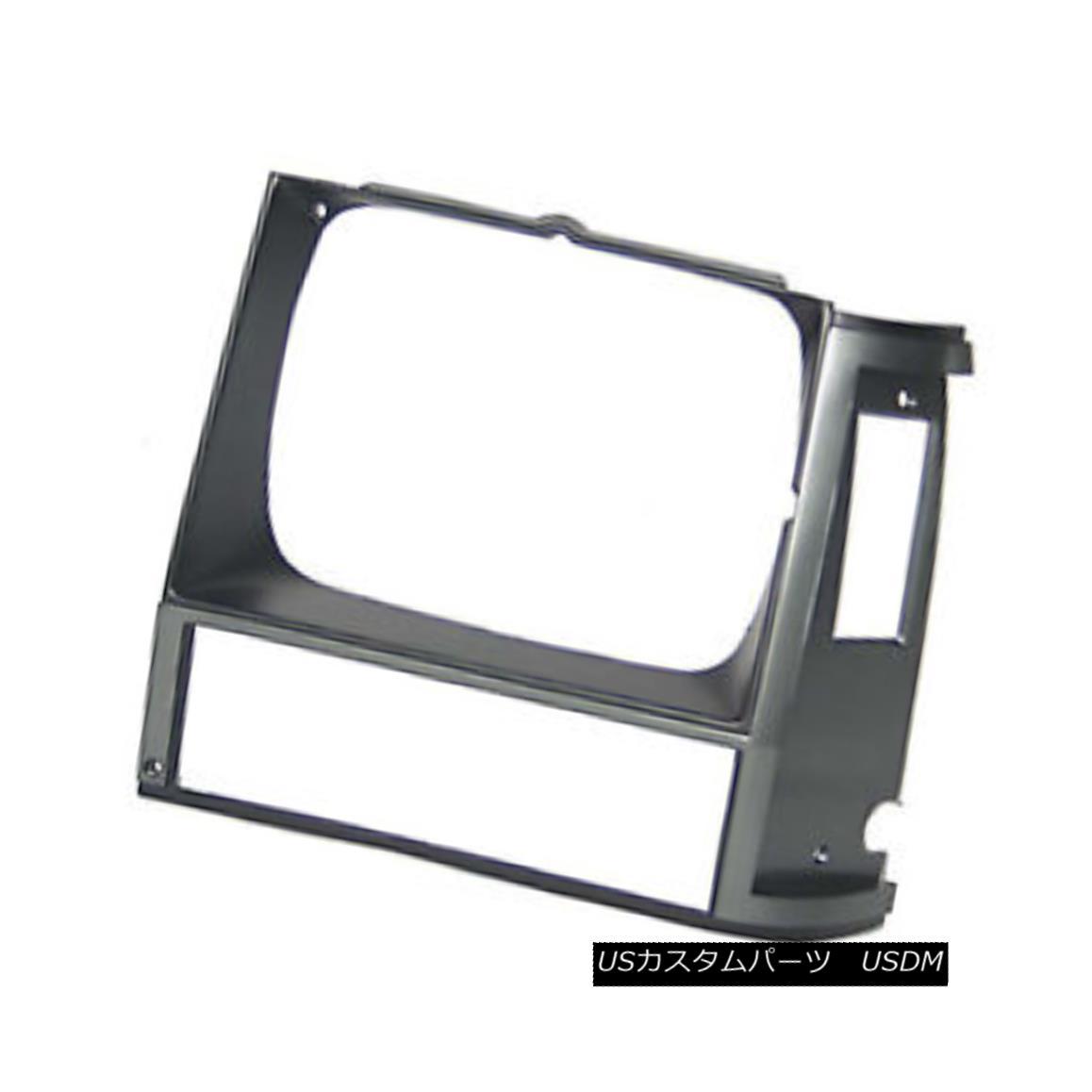 グリル Replacement Headlight Door Silver & Black Driver Side for Single Lamp 630-00136B 交換ヘッドライトドアシルバー& シングルランプ630-00136B用の黒色ドライバ側