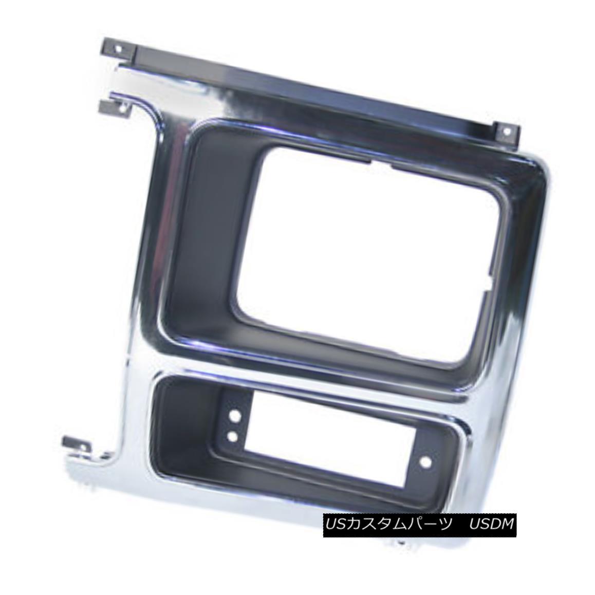 グリル New Replacement Headlight Door Chrome & Black Driver Side 630-00335BL 新しい交換ヘッドライトドアクローム& 黒ドライバサイド630-00335BL
