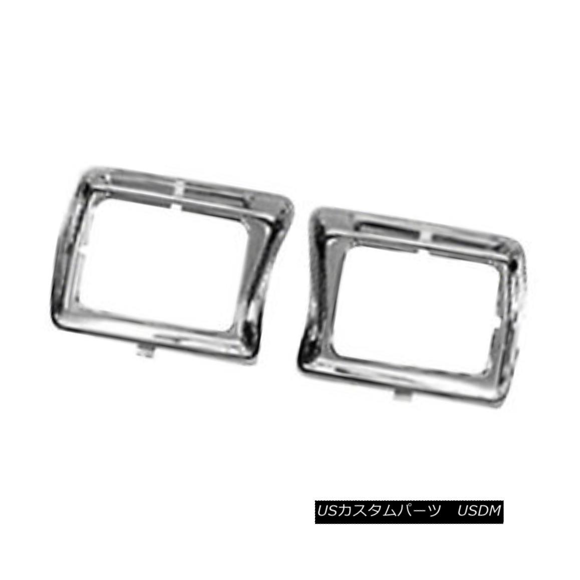 グリル New Replacement Headlight Door Chrome Passenger Side w/Square Lamps 630-00334BR 新しい交換ヘッドライトドアクローム乗客側ワット/スクエアランプ630-00334BR