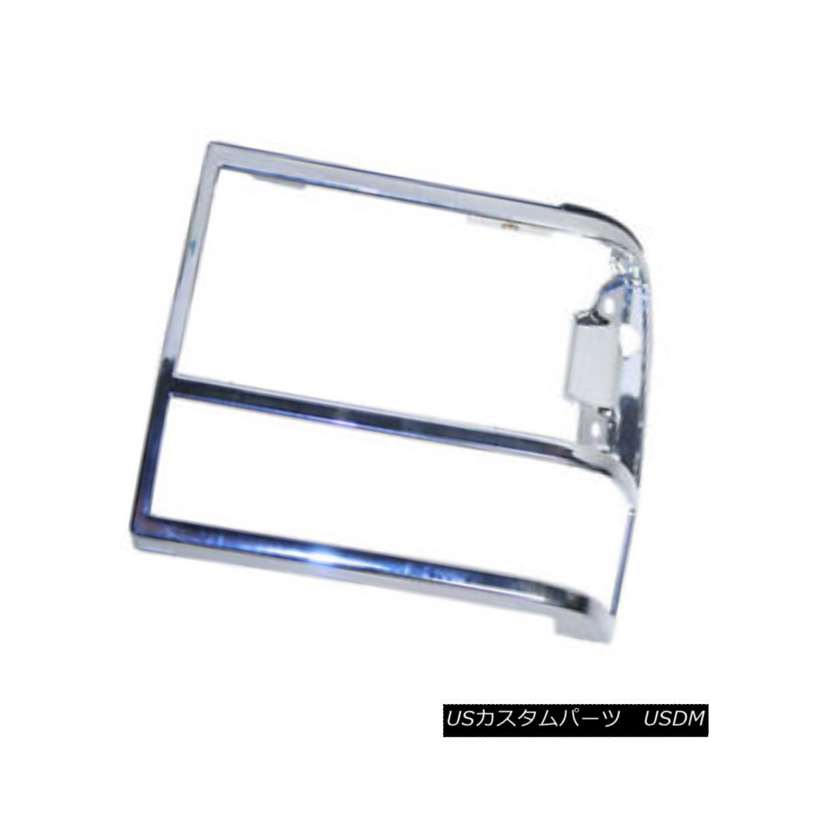 グリル New Replacement Headlight Door Chrome Driver Side without GT 630-00924AL GT 630-00924ALなしの新しい交換ヘッドライトドアクロームドライバサイド