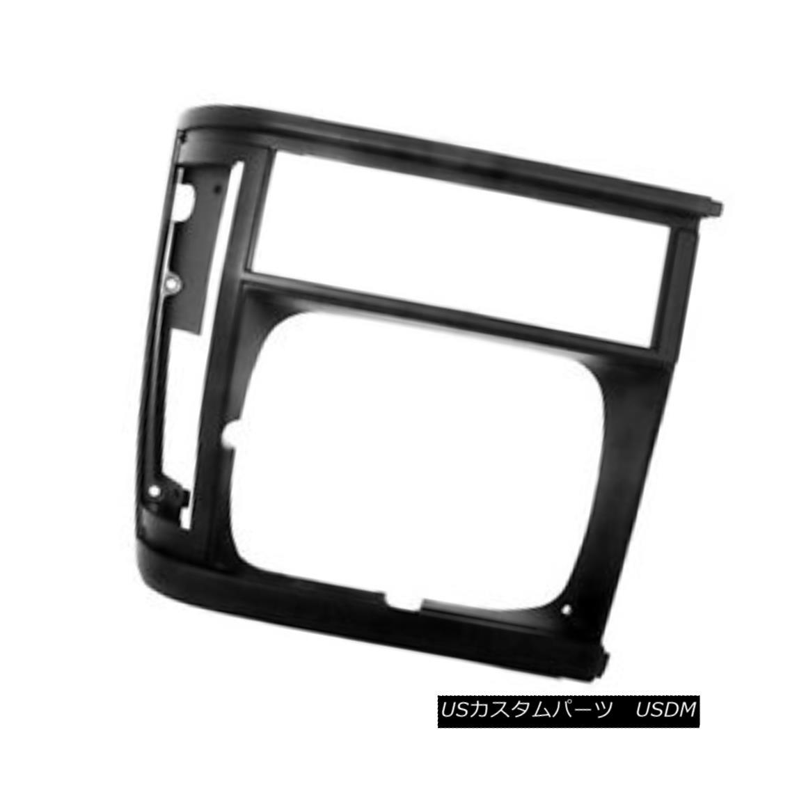 グリル New Replacement Headlight Door Black Driver Side for Single Lamp 630-00972B 単一のランプ630-00972Bのための新しい交換ヘッドライトドアブラックドライバ側