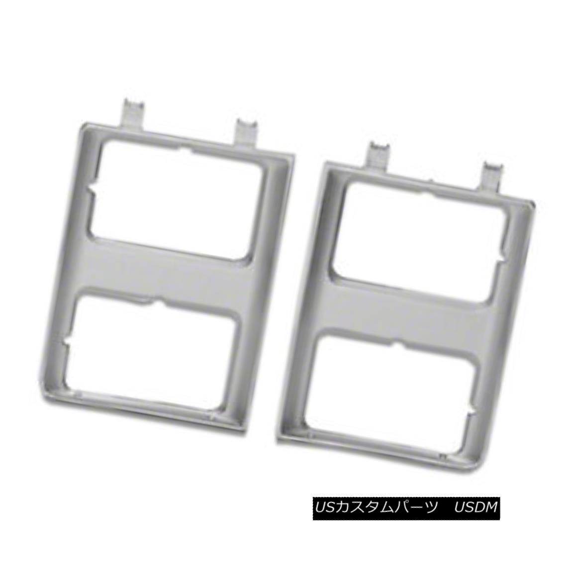 グリル New Headlight Door Silver Passenger Side for Dual Lamps Rectangular 630-00848R デュアルランプ用の新しいヘッドライトドアシルバーの旅客側630-00848R