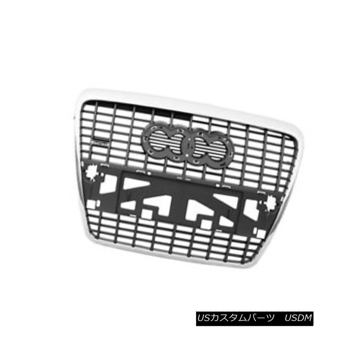 グリル New Replacement Front Grille Silver & Black 104-59401B 新しい交換用フロントグリルシルバー& 黒104-59401B