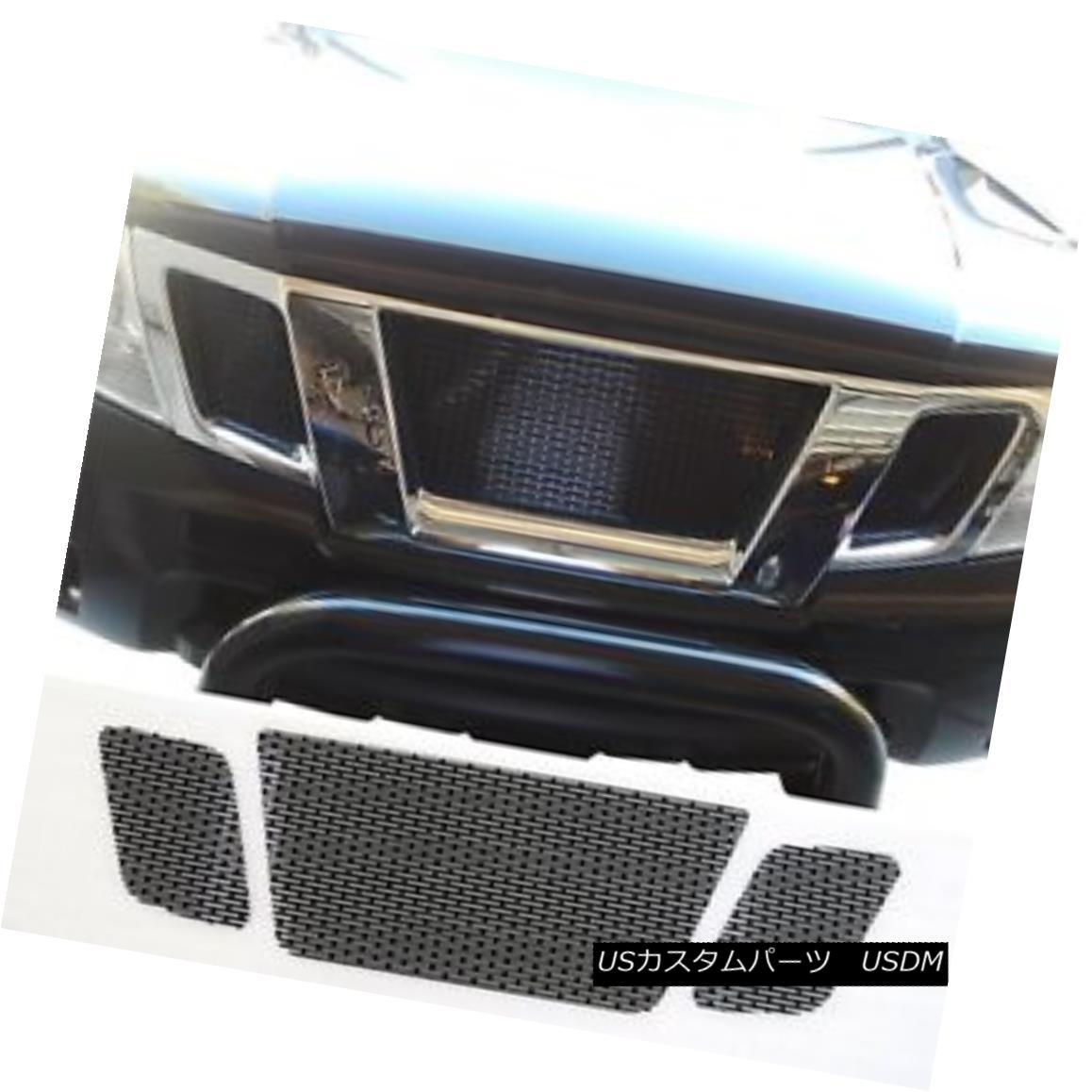 グリル CCG GLOSS BLACK PERF SS PRECUT MESH GRILL SET FOR 2009-18 NISSAN FRONTIER GRILLE CCG GLOSS BLACK PERF SSプレッシュメッシュグリル(2009-18日産フロンティアグリル)