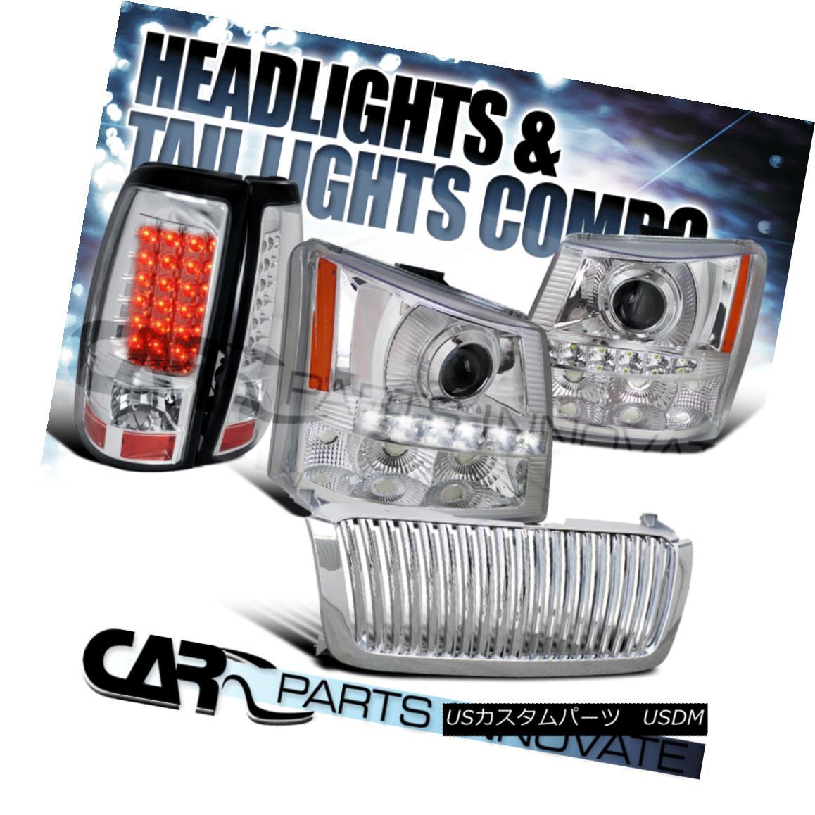 グリル 03-05 Silverado 2in1 Chrome Projector Head Bumper Light+SMD LED+Grille+Tail Lamp 03-05 Silverado 2in1 Chromeプロジェクターヘッドバンパーライト+ SMD LED +グリル+タイ lランプ