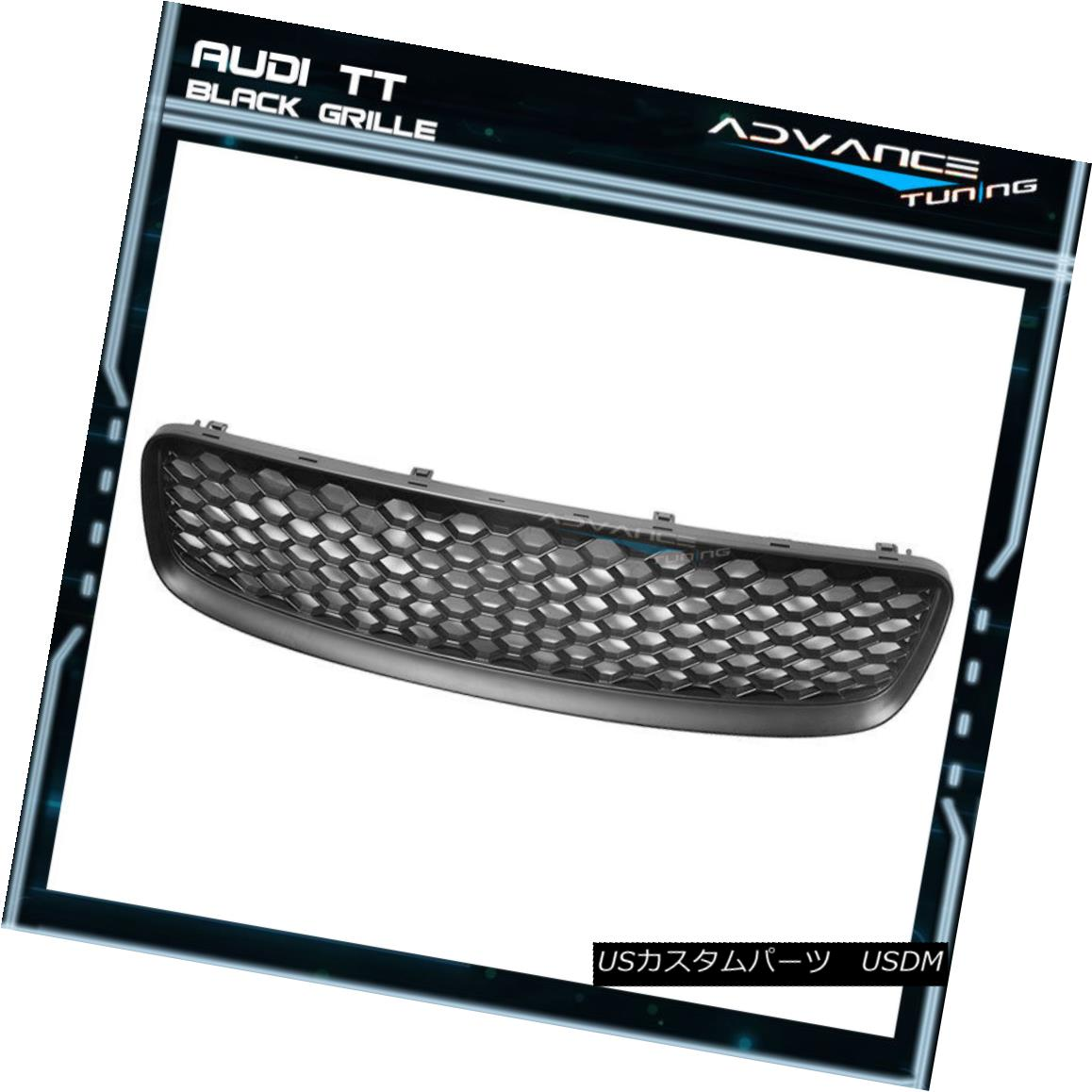 グリル For 99-06 Audi TT Black Front Upper Mesh Hood Grille New 99-06 Audi TT BlackフロントアッパーメッシュフードグリルNew