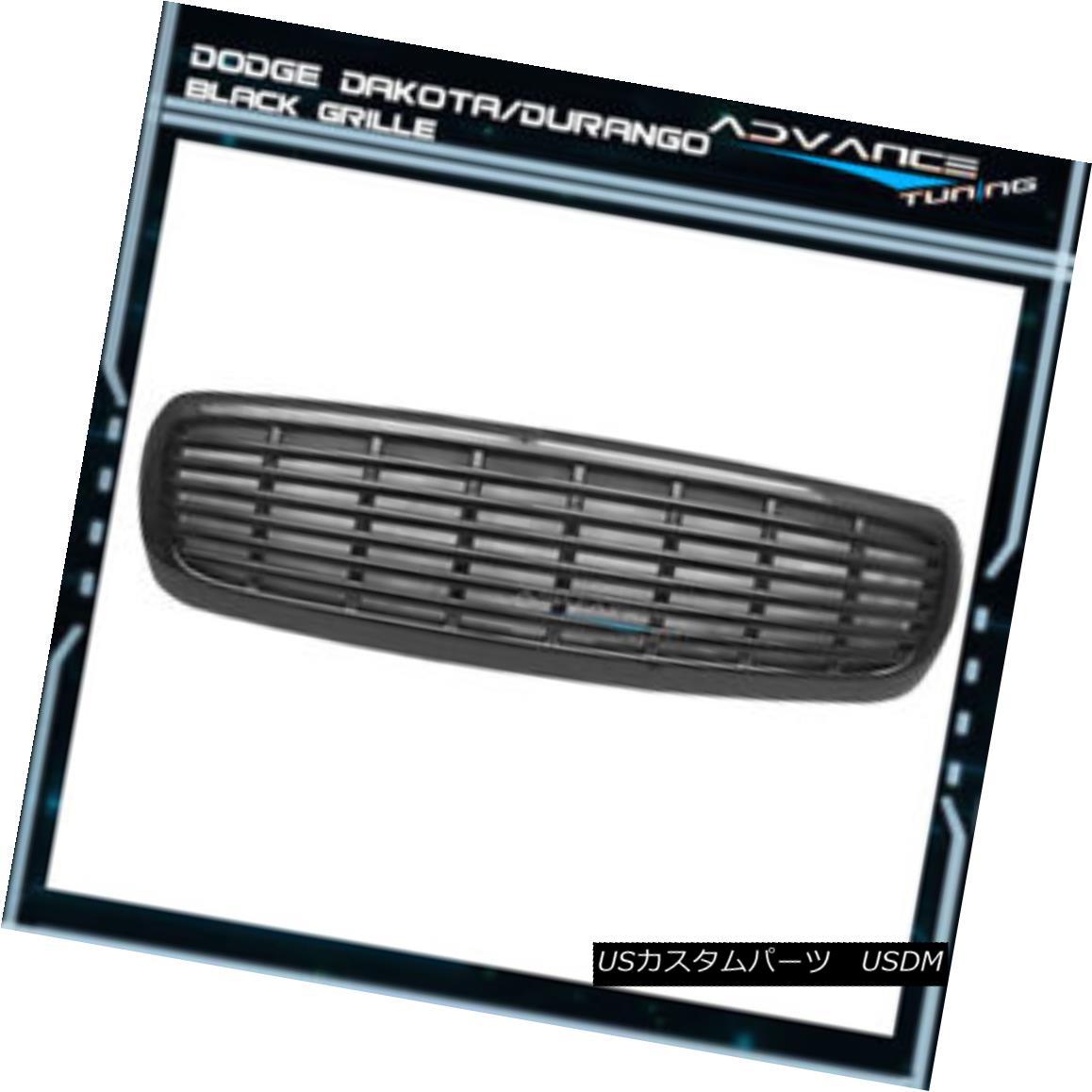 グリル For 97-03 Dakota Durango Sports Style Front Hood Grill Grille Unpainted - ABS 97-03 Dakota Durangoスポーツスタイルフロントフードグリルグリル無塗装 - ABS