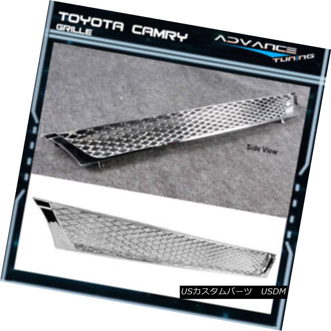 グリル Fit For 95 96 Toyota Camry Chrome Mesh Front Hood Grille Grill Brand New フィット95 95トヨタカムリクロムメッシュフロントフードグリルグリルブランニュー