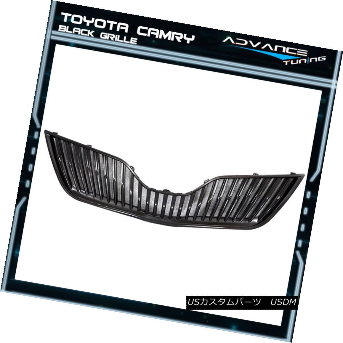グリル For 10-11 Toyota Camry VERTICAL Front Upper Grill Grille - Black 10-11トヨタカムリ用VERTICALフロントアッパーグリルグリル - ブラック